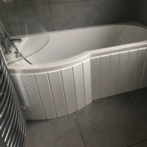 Custom Made Flexible Bath Panel ideal for P Shaped Shower Baths any colour / finish